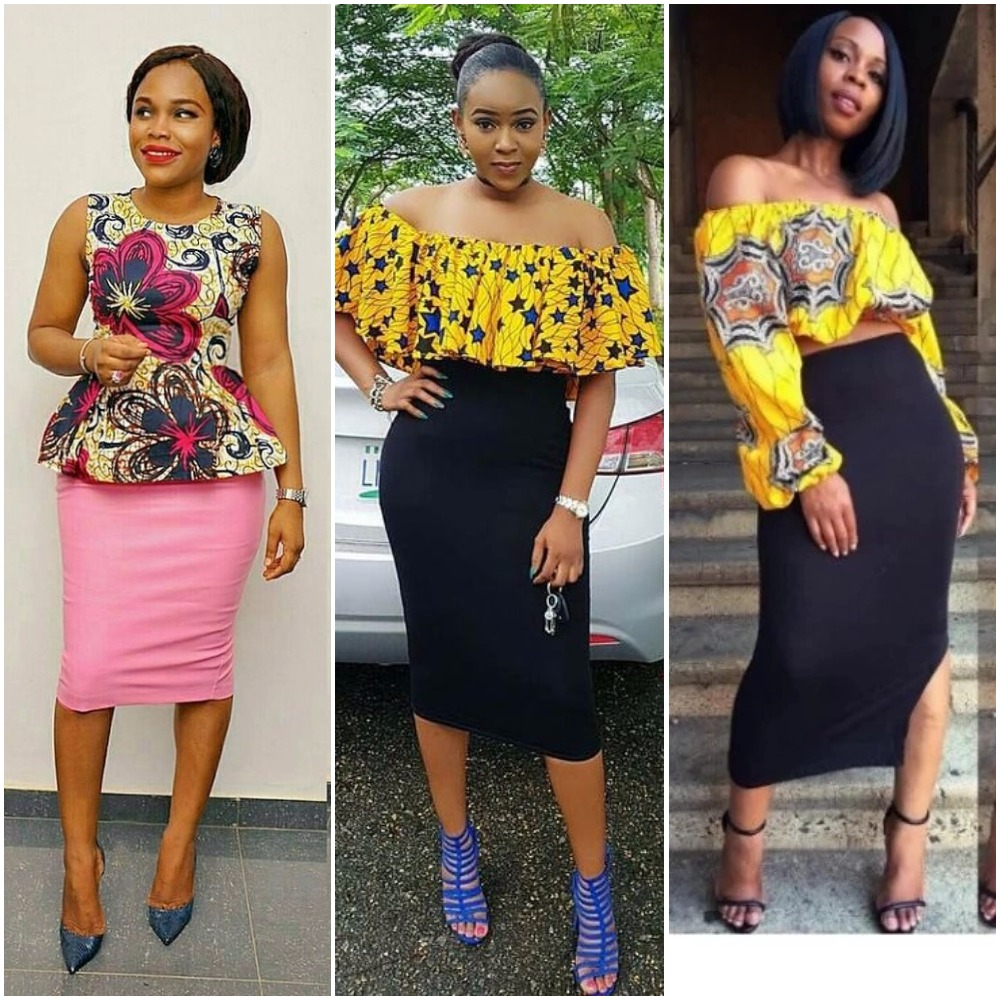 ankara-top-and-plain-skirt
