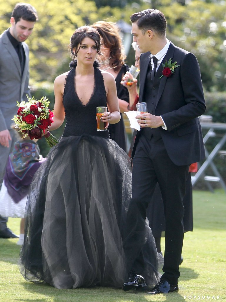 Shenae-Grimes-wore-black-Vera-Wang-wedding-gown-her-wedding